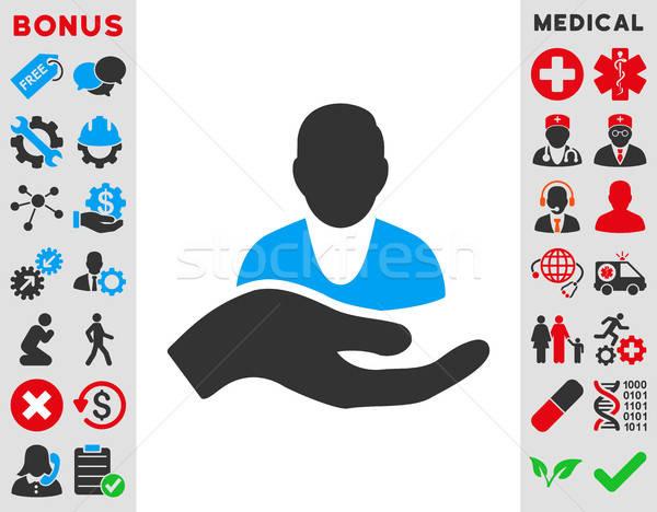 Patienten Hilfe Symbol Vektor Stil Symbol Stock foto © ahasoft