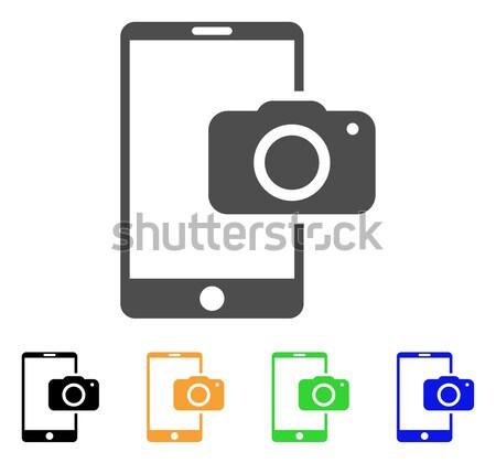 Mobile Camera Flat Raster Icon Stock photo © ahasoft