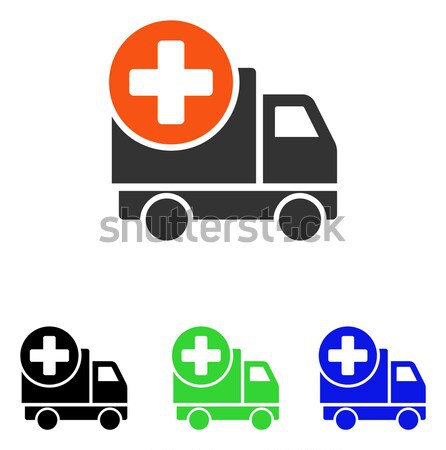 Medical Delivery Structure Flat Vector Icon Stock photo © ahasoft