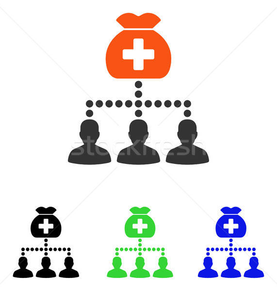 Medical Fund Clients Flat Vector Icon Stock photo © ahasoft