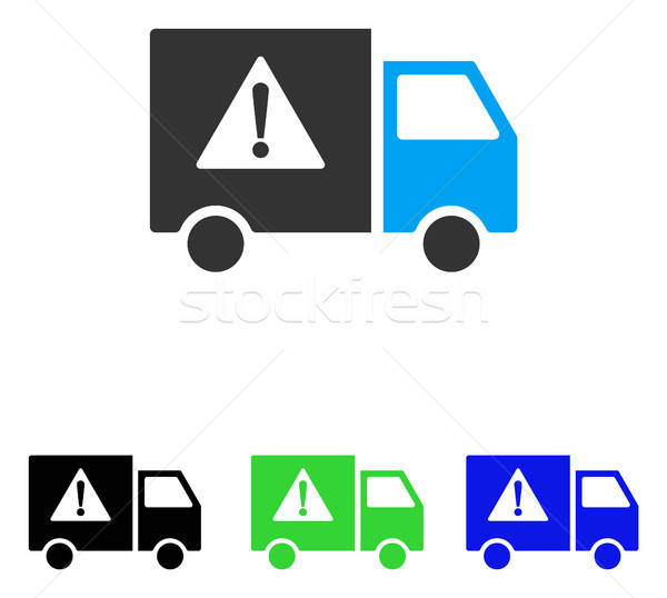 Danger transport camion vecteur icône illustration Photo stock © ahasoft
