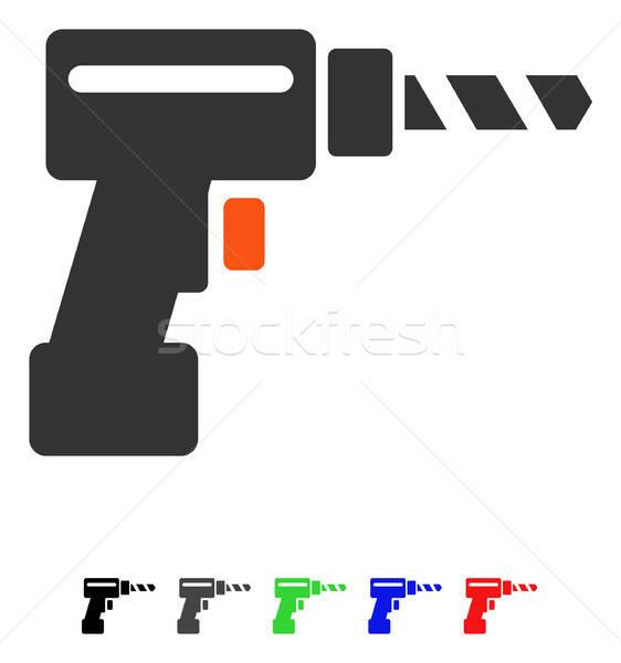 Drill Flat Icon Stock photo © ahasoft