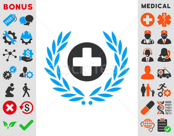 Health Care Embleme Icon Stock photo © ahasoft
