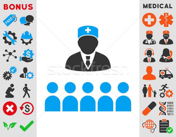 Medische klasse icon stijl symbool Blauw Stockfoto © ahasoft