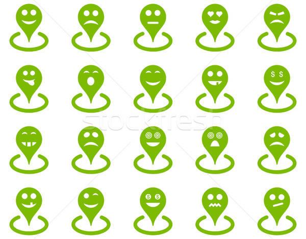 Ubicación iconos vector establecer estilo Foto stock © ahasoft