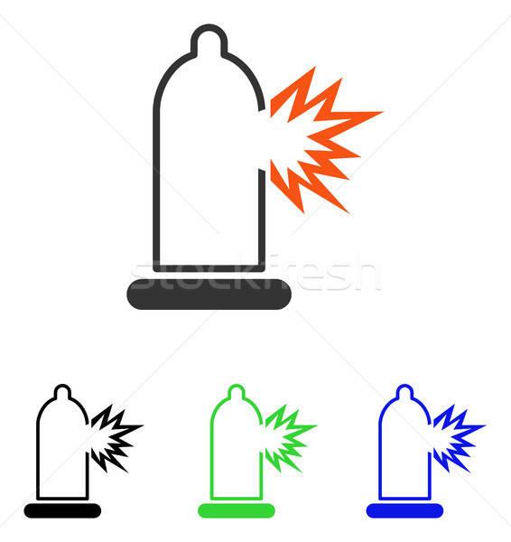 コンドーム ダメージ ベクトル アイコン 実例 スタイル ストックフォト © ahasoft
