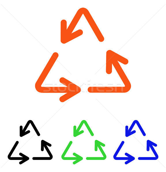 Recycle Arrows Flat Vector Icon Stock photo © ahasoft