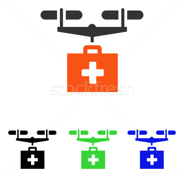 Drug Drone Delivery Flat Vector Icon Stock photo © ahasoft