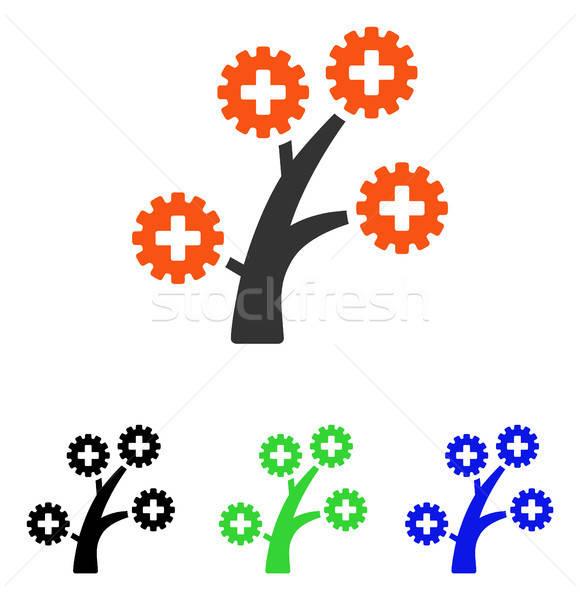 Medical Technology Tree Flat Vector Icon Stock photo © ahasoft