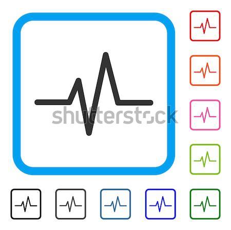 Cardiogram Flat Icon Stock photo © ahasoft