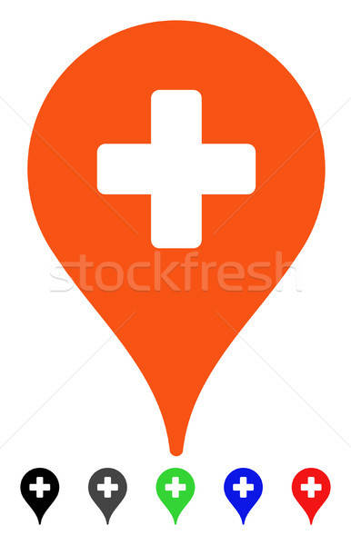 Clinic Map Pointer Flat Icon Stock photo © ahasoft