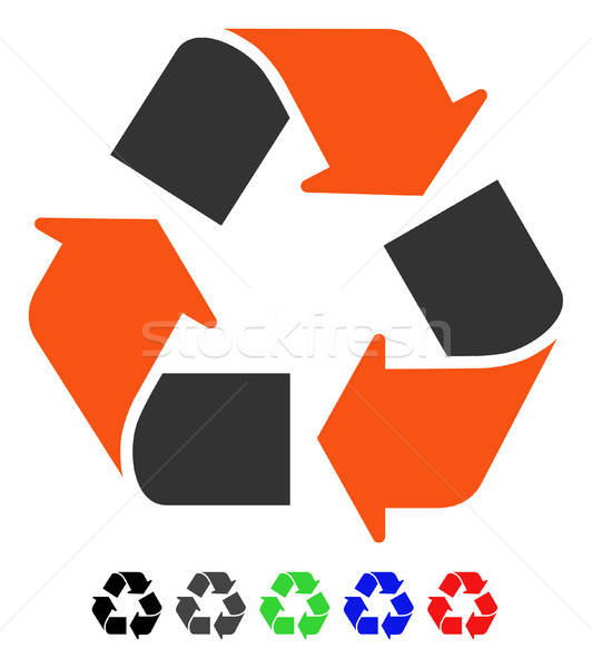 Recycle Flat Icon Stock photo © ahasoft