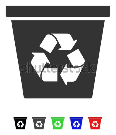 Recycle Bin Flat Icon Stock photo © ahasoft