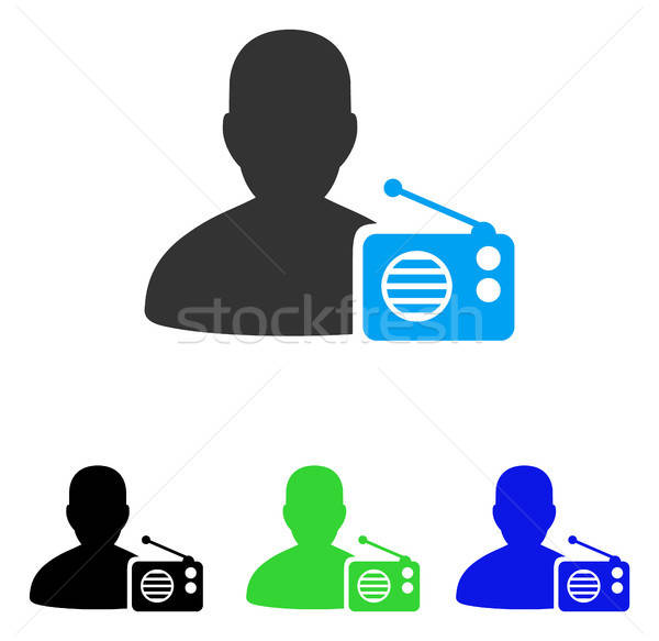 Radio Dictor Flat Icon Stock photo © ahasoft