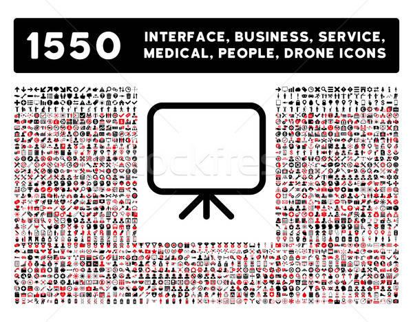 Présentation écran icône plus interface affaires Photo stock © ahasoft