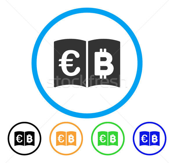Euro And Bitcoin Catalog Rounded Icon Stock photo © ahasoft