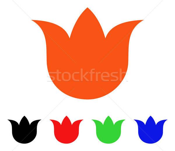 Lalea floare vector icoană floare stil iconic Imagine de stoc © ahasoft