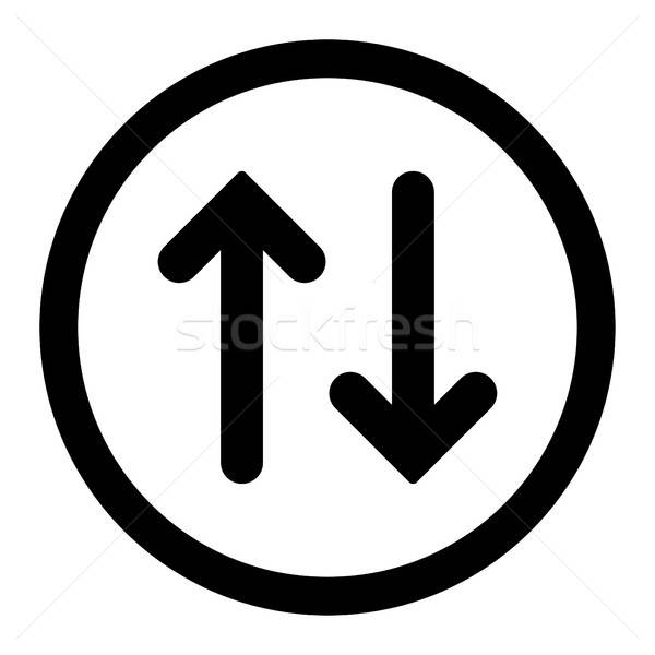 Flip flat black color rounded vector icon Stock photo © ahasoft
