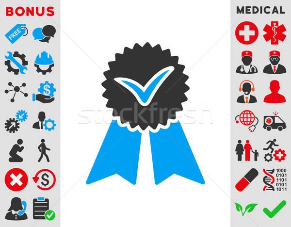 Icono vector estilo símbolo azul gris Foto stock © ahasoft