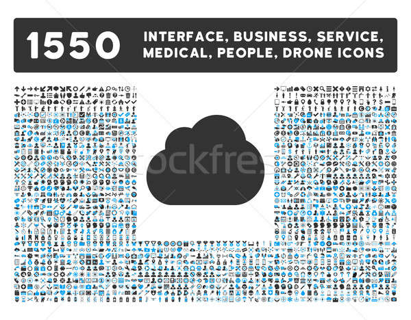 Cloud Icon and More Interface, Business, Tools, People, Medical, Awards Flat Glyph Icons Stock photo © ahasoft
