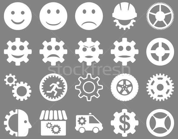Narzędzia uśmiech narzędzi ikona zestaw stylu Zdjęcia stock © ahasoft