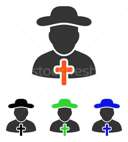Stock photo: Cleric Flat Vector Icon