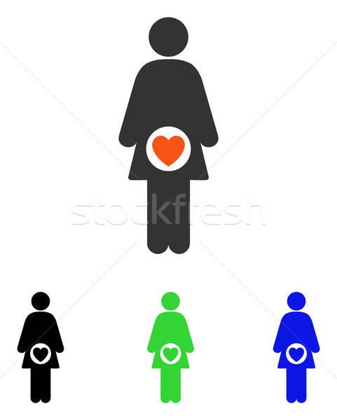 Fertility Flat Vector Icon Stock photo © ahasoft
