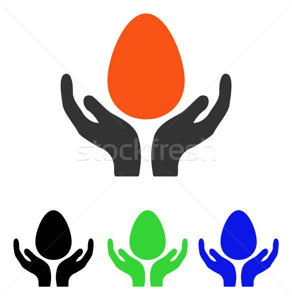 Incubator Egg Care Hands Flat Vector Icon Stock photo © ahasoft