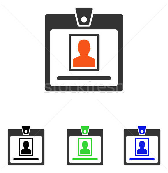 Person Badge Flat Vector Icon Stock photo © ahasoft