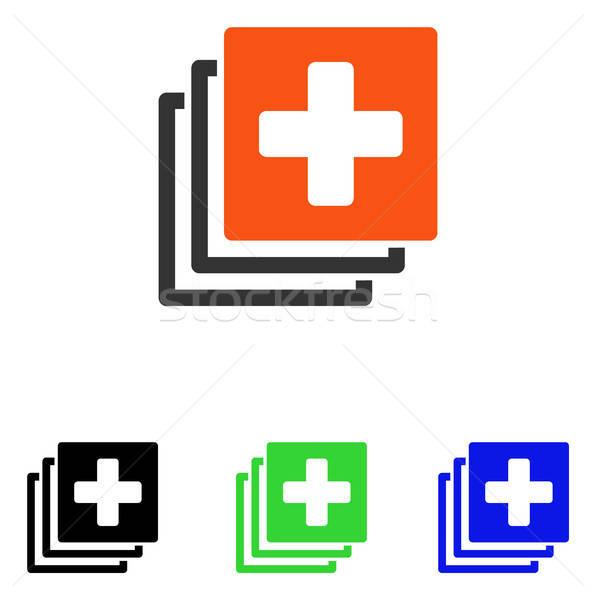 медицинской документы вектора икона пиктограммы иллюстрация Сток-фото © ahasoft