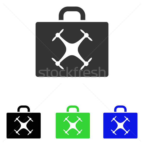 Drone Case Flat Vector Icon Stock photo © ahasoft