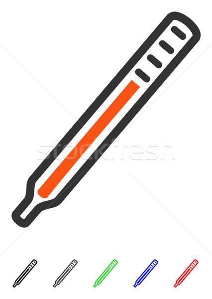 Medici termometro icona colorato colore nero Foto d'archivio © ahasoft