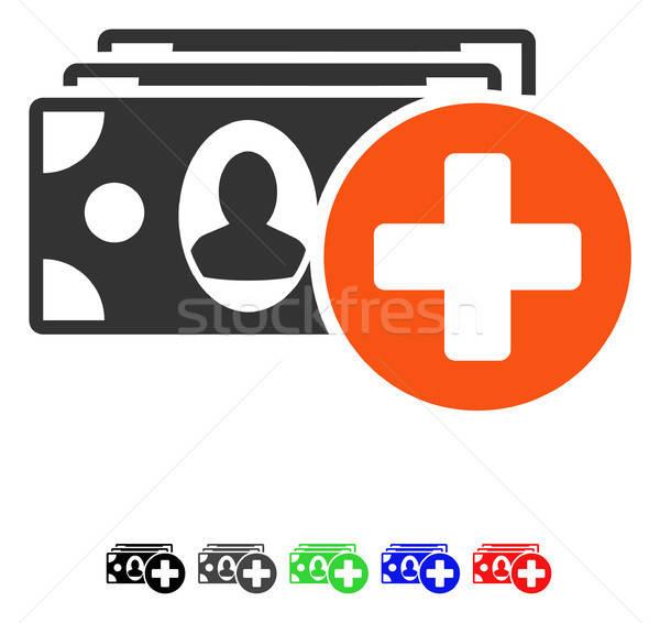 Medische icon vector pictogram gekleurd kleur Stockfoto © ahasoft