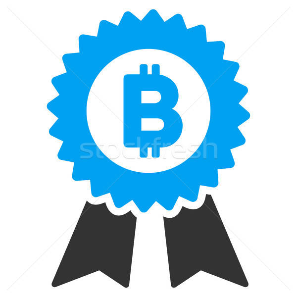 Bitcoin Seal With Ribbons Flat Icon Stock photo © ahasoft