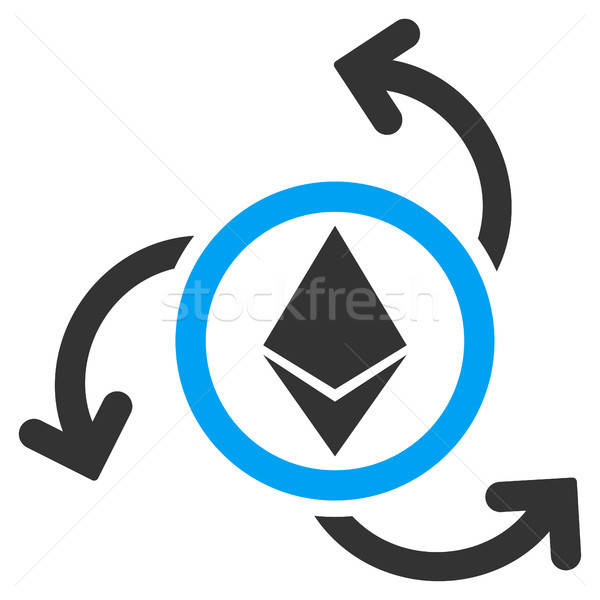 Ethereum Source Swirl Flat Icon Stock photo © ahasoft