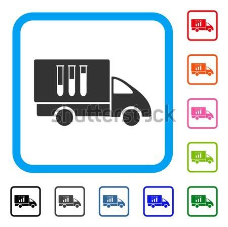 батареи грузовик икона серый пиктограммы символ Сток-фото © ahasoft
