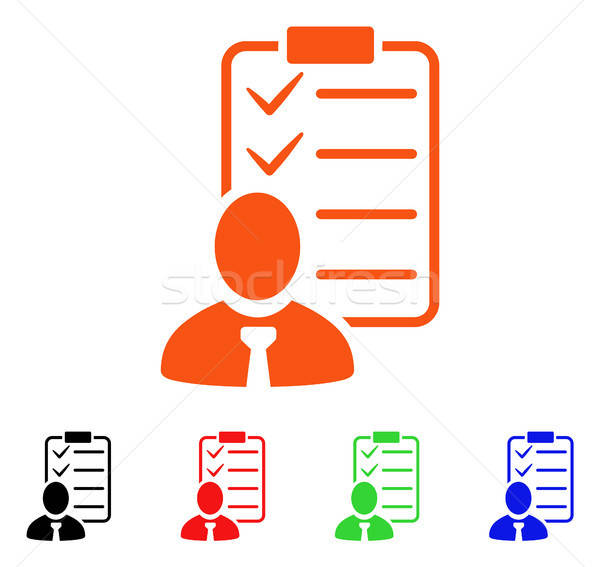 Manager Check List Vector Icon Stock photo © ahasoft