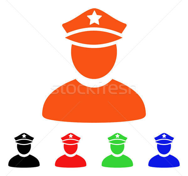 Policeman Vector Icon Stock photo © ahasoft