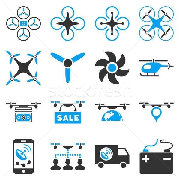 Drone service icon set Stock photo © ahasoft