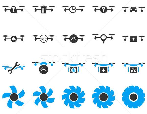 Powietrza narzędzie ikona stylu wektora Zdjęcia stock © ahasoft