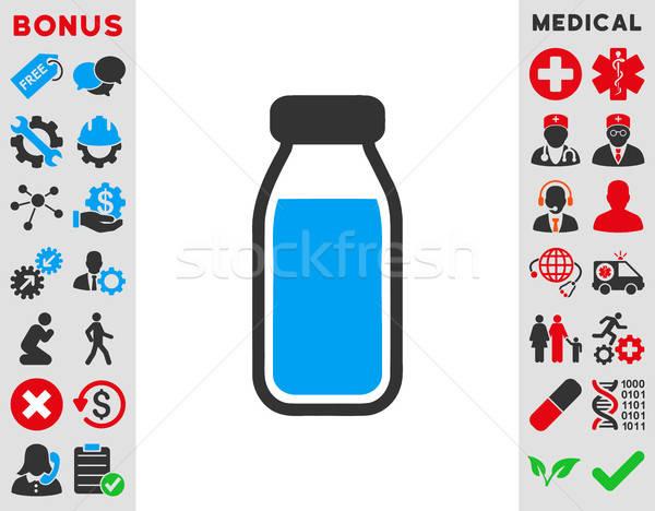 Tele üveg ikon vektor ikon stílus szimbólum Stock fotó © ahasoft