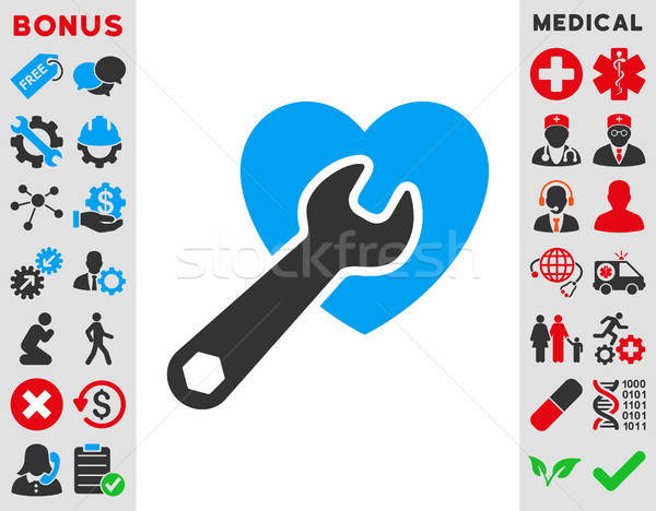Hart chirurgie icon vector stijl symbool Stockfoto © ahasoft