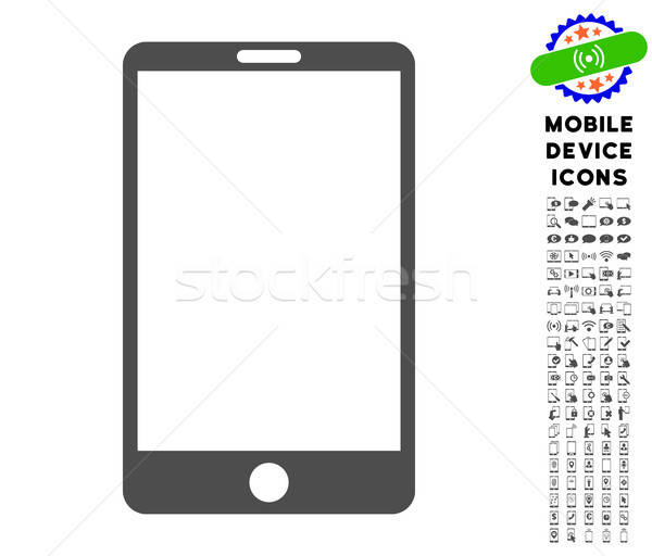 Smartphone Icon with Set Stock photo © ahasoft
