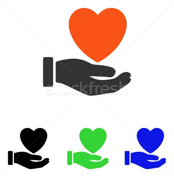 Corazón caridad vector icono pictograma ilustración Foto stock © ahasoft