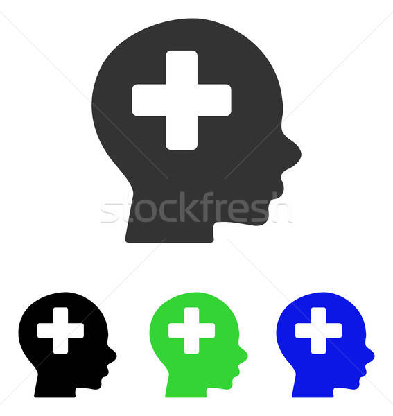 Head Medicine Flat Vector Icon Stock photo © ahasoft