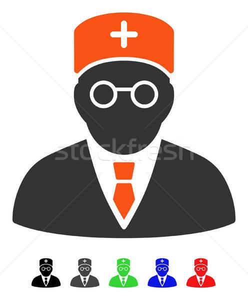 Main Physician Flat Icon Stock photo © ahasoft