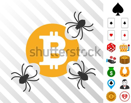 Marijuana Bitcoin Business Flat Icon Stock photo © ahasoft