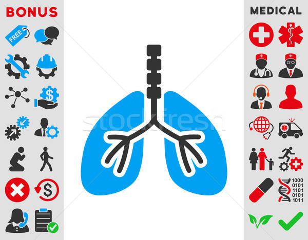 Icon vector stijl symbool Blauw grijs Stockfoto © ahasoft