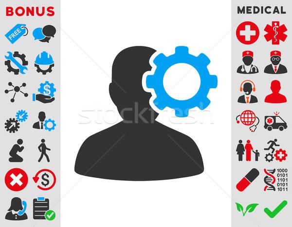 Migräne Symbol Vektor Stil Symbol blau Stock foto © ahasoft
