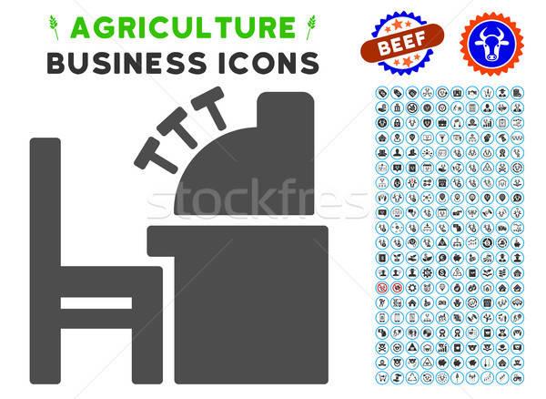 会計 オフィス アイコン 農業 セット グレー ストックフォト © ahasoft